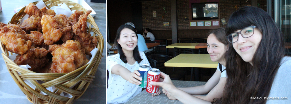 Chicken and beer at the Hangang river